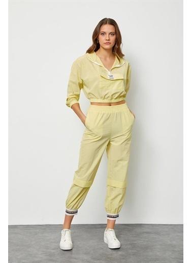 Setre Sarı Paçası Şerit Detaylı Jogger Pantolon Sarı
